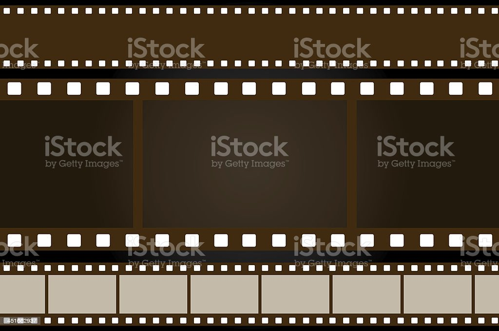 Filmstrips on isolate black background stock photo
