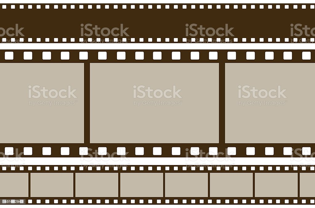 Filmstrips on isolate white background stock photo