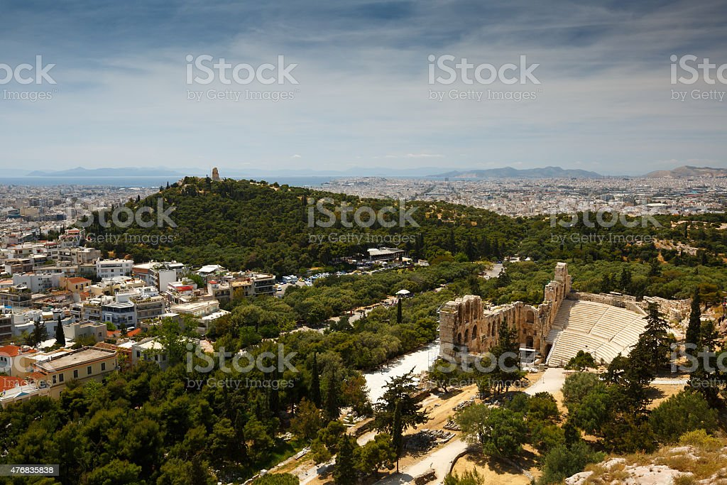 Filopappos  Hill. stock photo