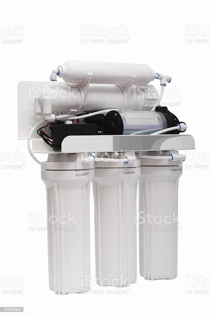 filter for water treating royalty-free stock photo