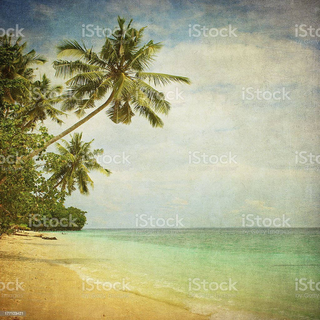 Filtered photograph of a tropical beach scene stock photo