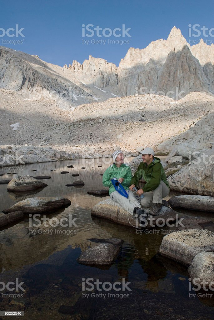 Filtering Water below Mt Whitney royalty-free stock photo