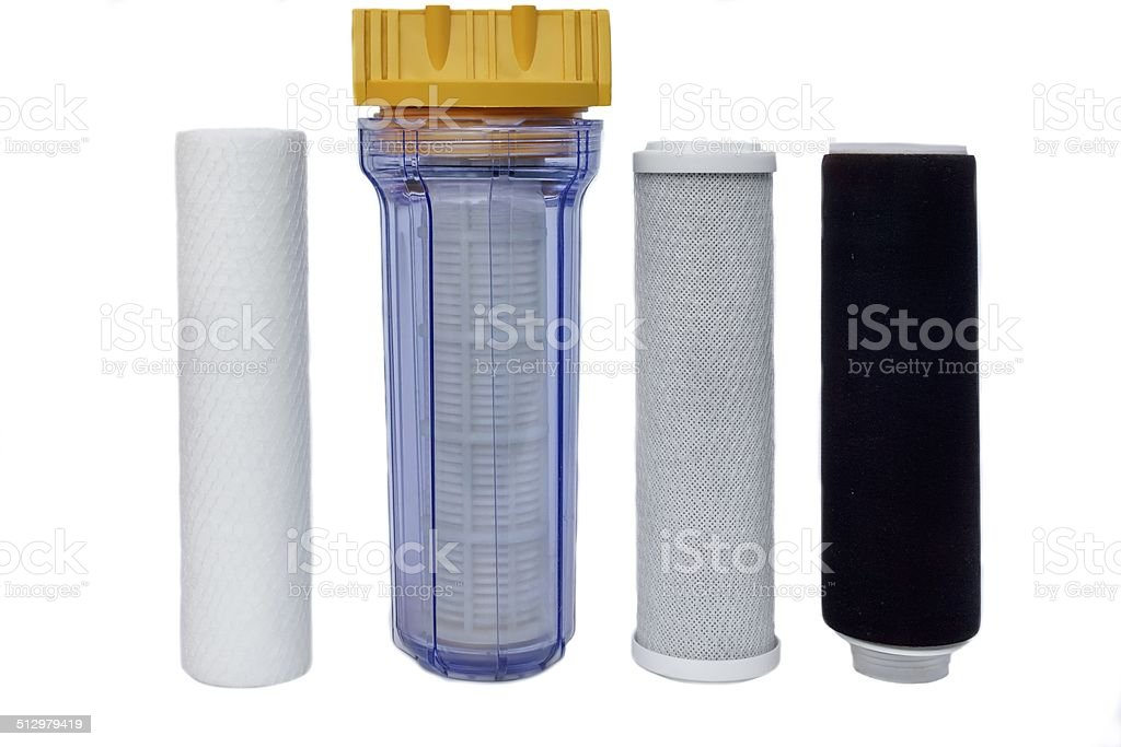 Filters for Drinking Water Purification stock photo
