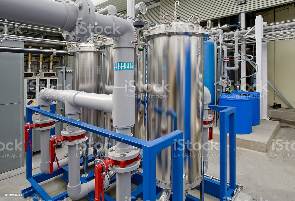 Filtration for Deionized Water Supply stock photo
