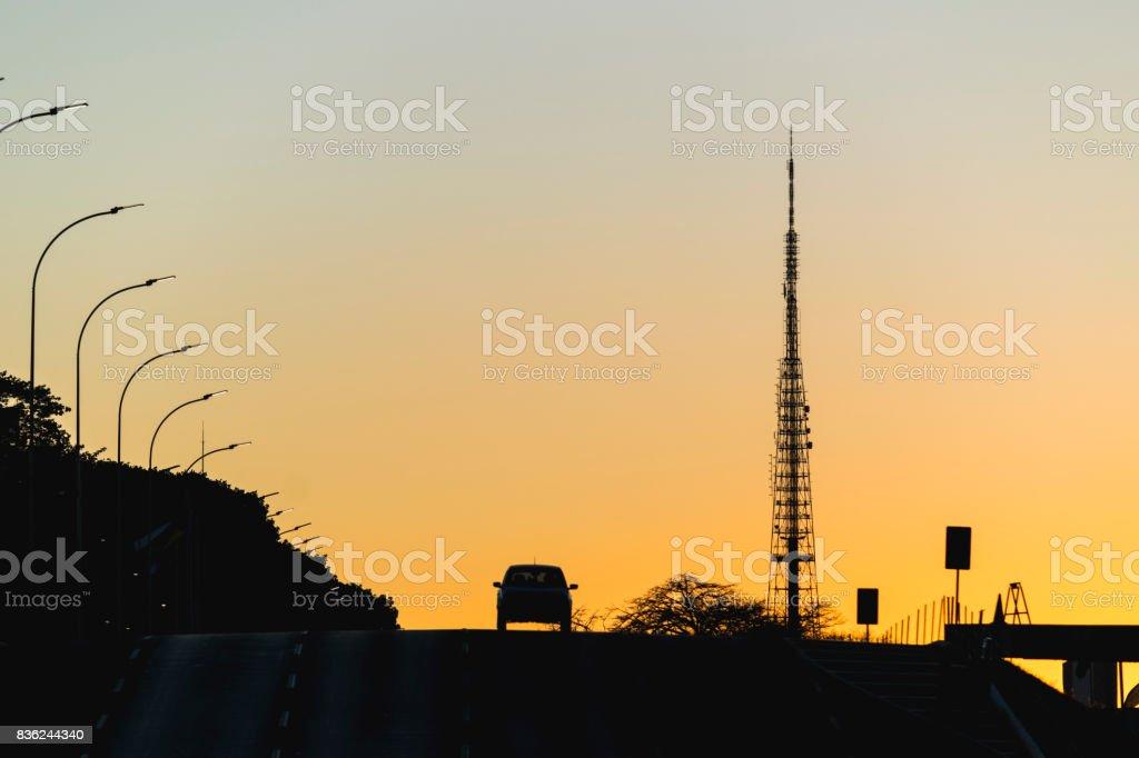 Fim de tarde em Brasilia stock photo