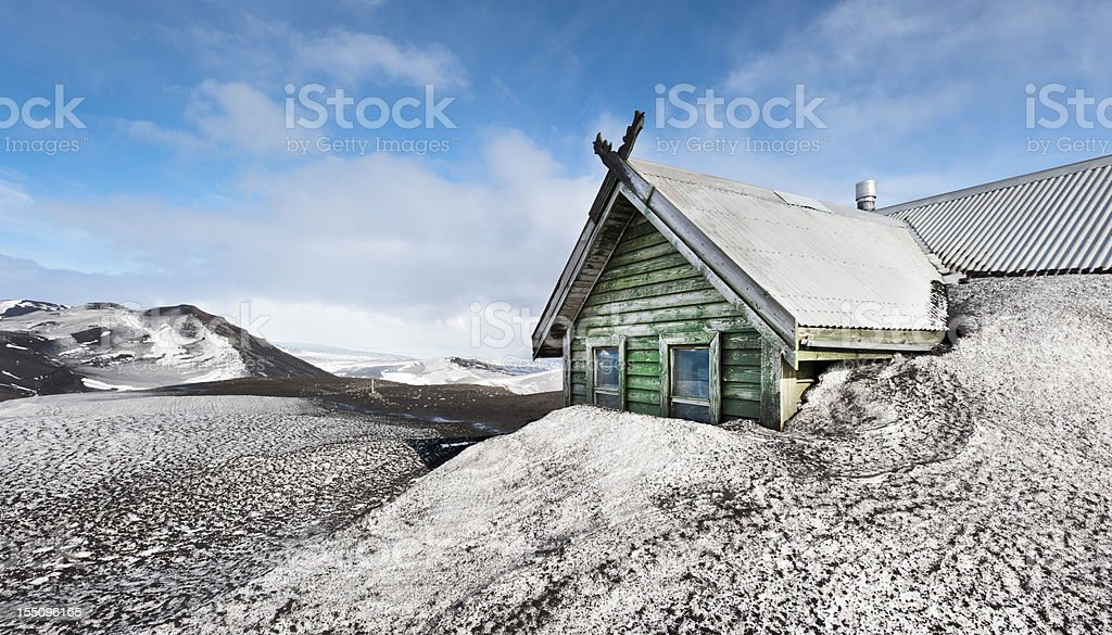 fimmförduhals skali, iceland stock photo