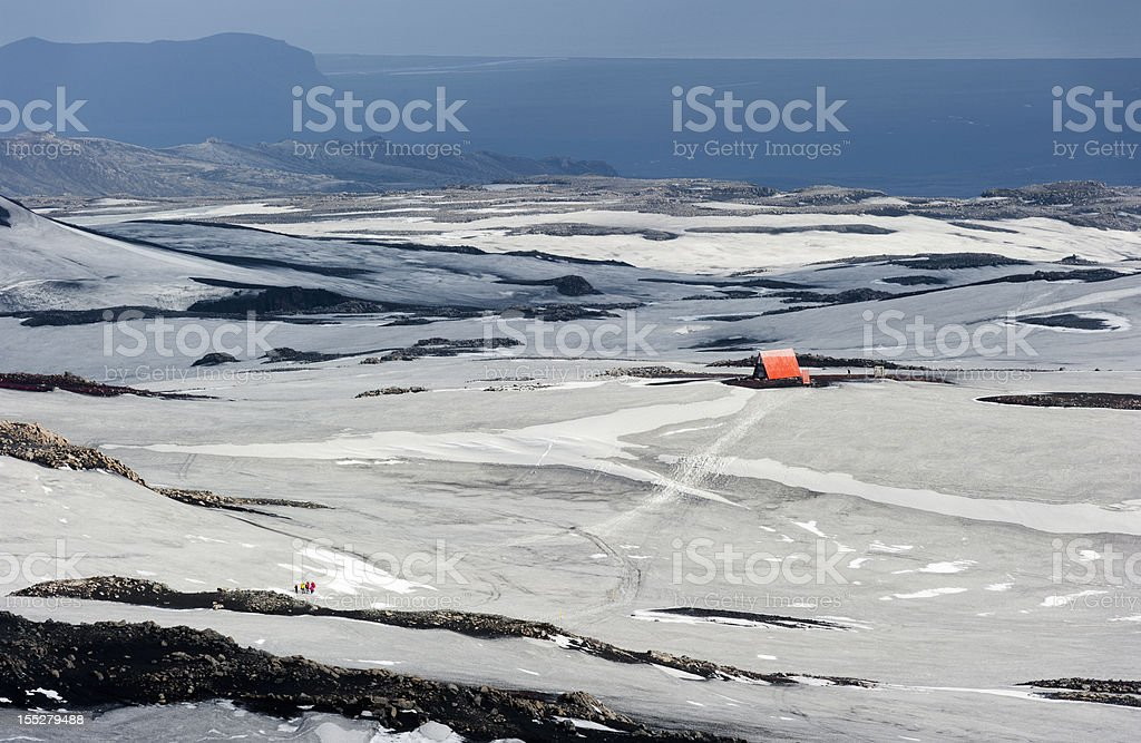fimmvörduhals, iceland stock photo