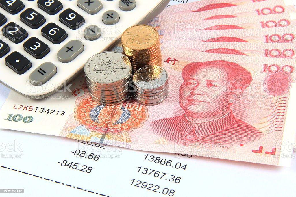 Finacial balance stock photo
