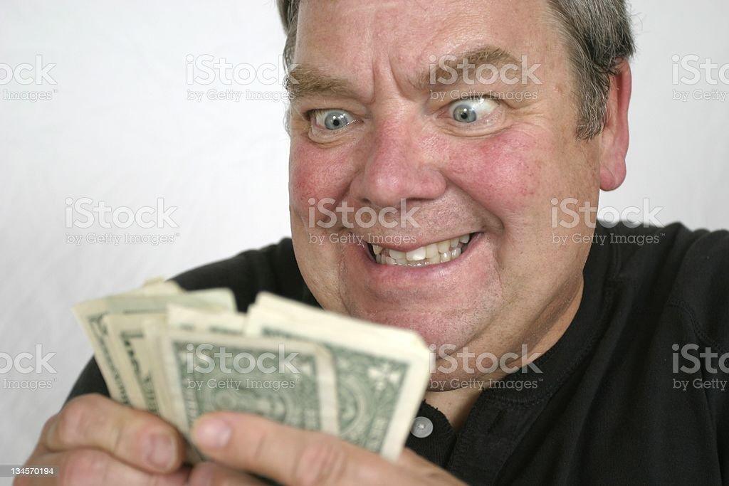 Finacial Greed royalty-free stock photo
