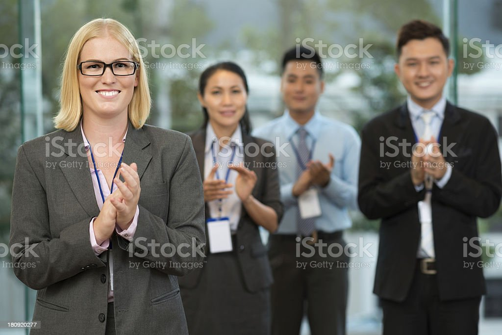 Final applauding royalty-free stock photo