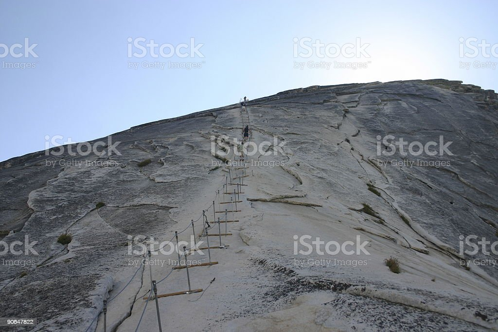 Final ascent to the Half Dome royalty-free stock photo