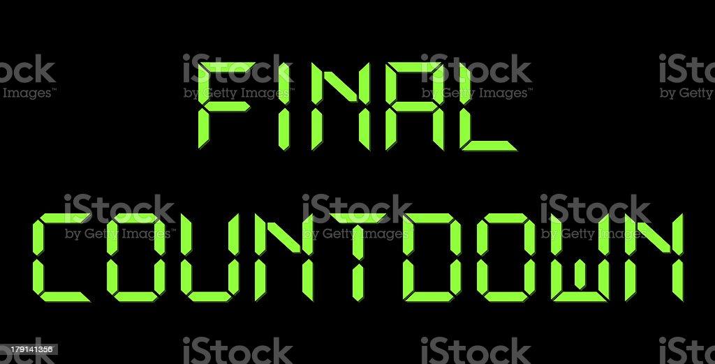 Final Countdown royalty-free stock photo