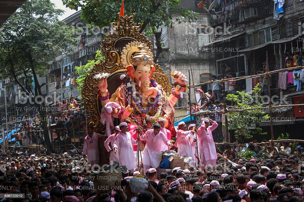 Final day of Ganesh Festival stock photo