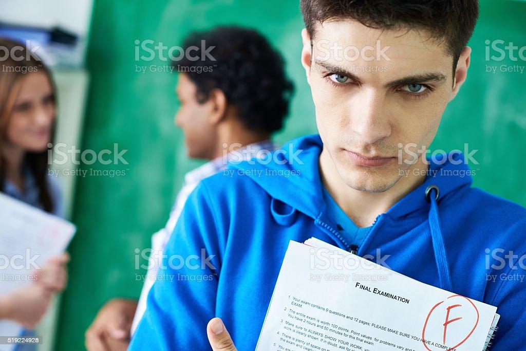 Final exam failure stock photo