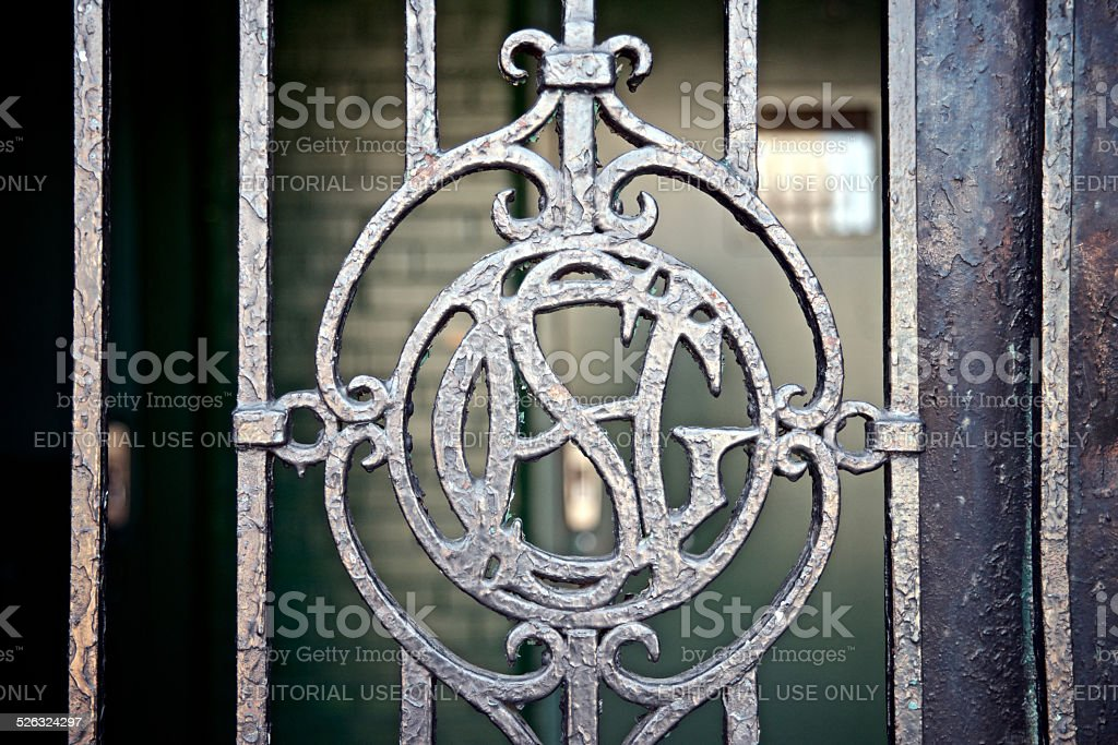 Philadelphia, PA USA - June 21, 2013; Detail of a closed gate at...