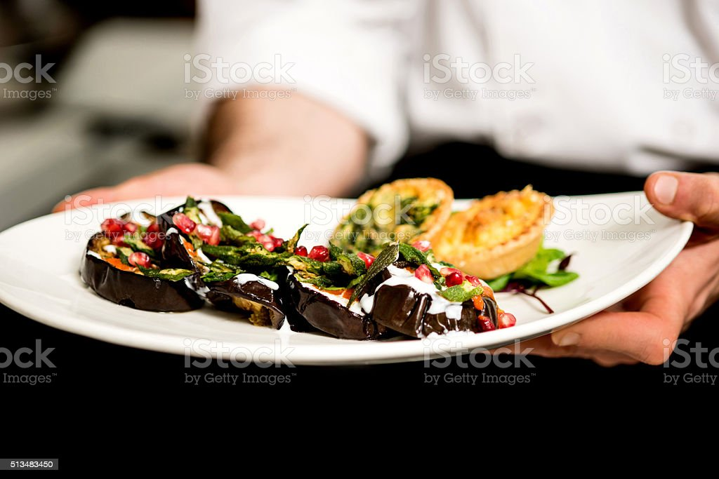 Final look of salad stock photo