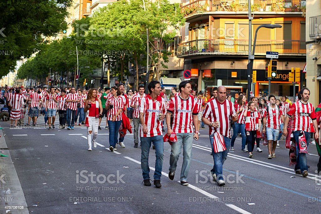 Final match of cup of spain 2015 stock photo