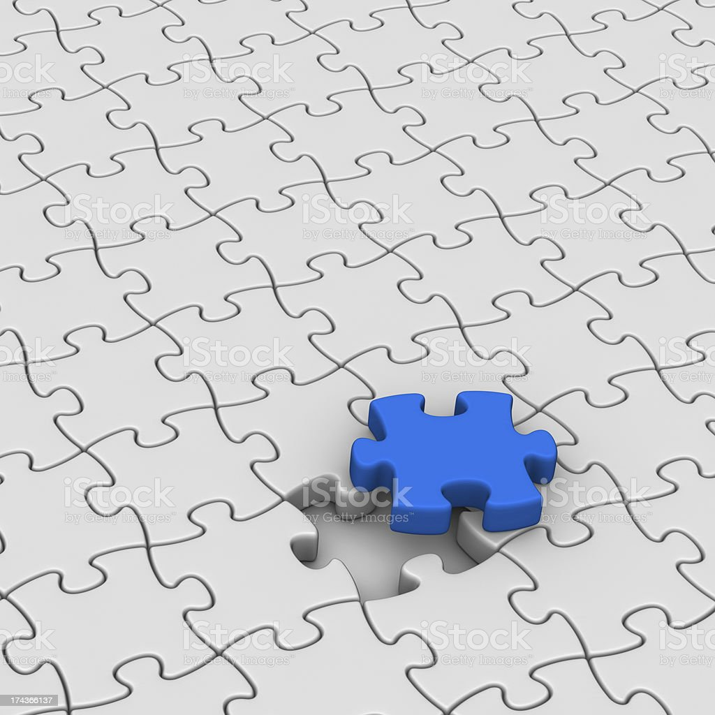 Final Piece of the Jigsaw Puzzle royalty-free stock photo