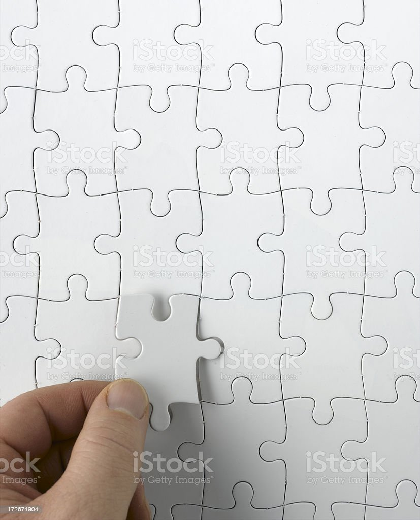 Final piece of the puzzle... royalty-free stock photo