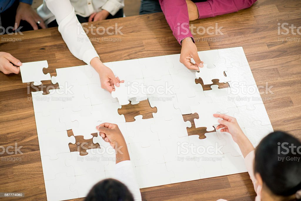 Final Pieces of the Puzzle stock photo
