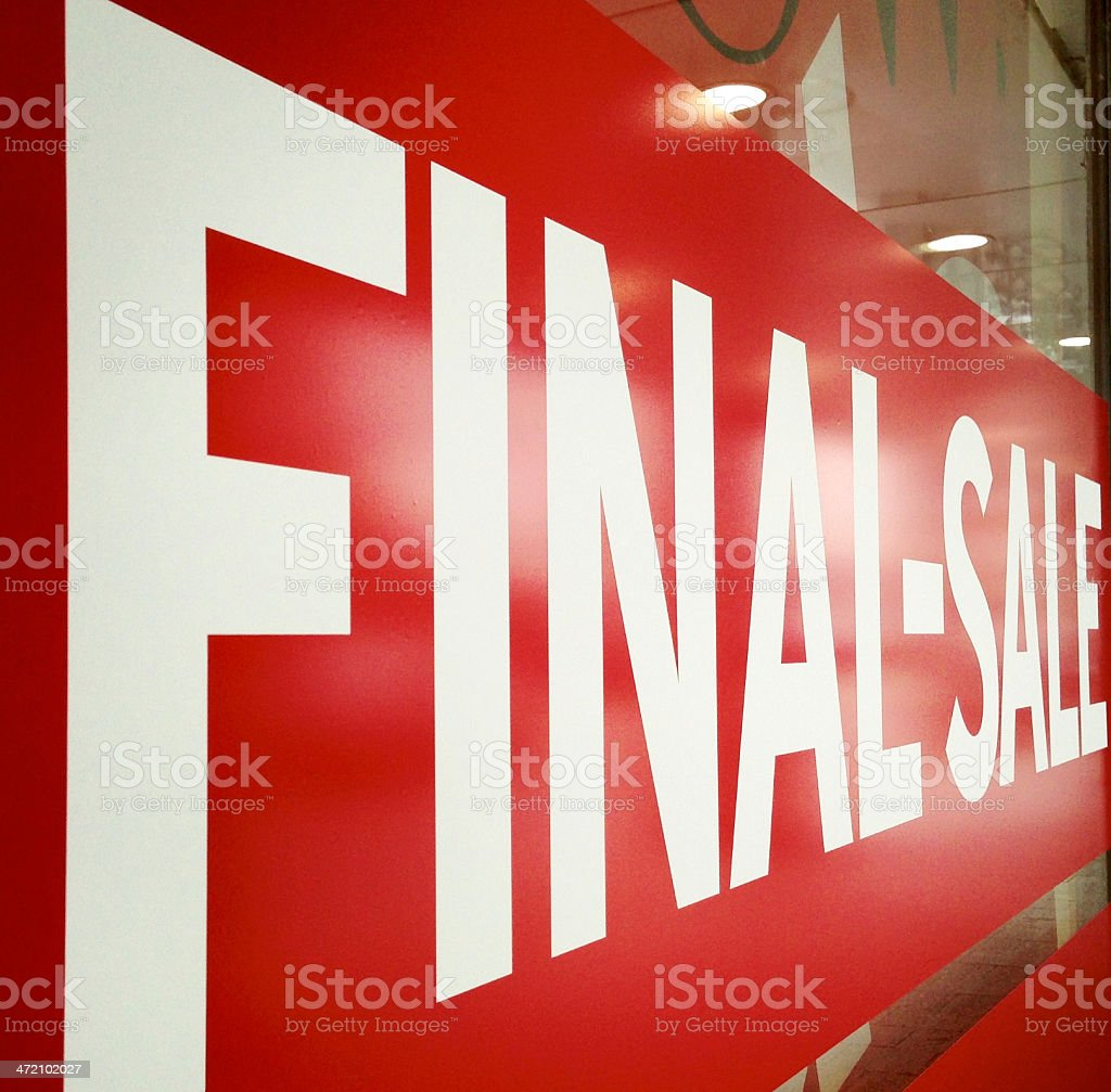 Final Sale stock photo