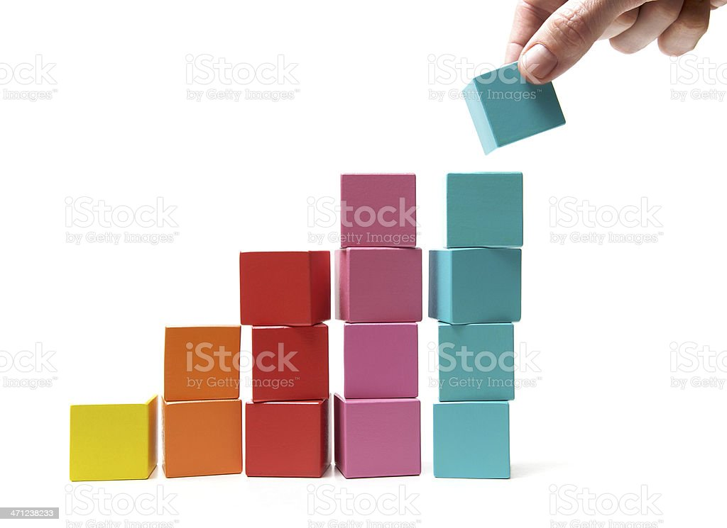 Final touch to achievement stock photo