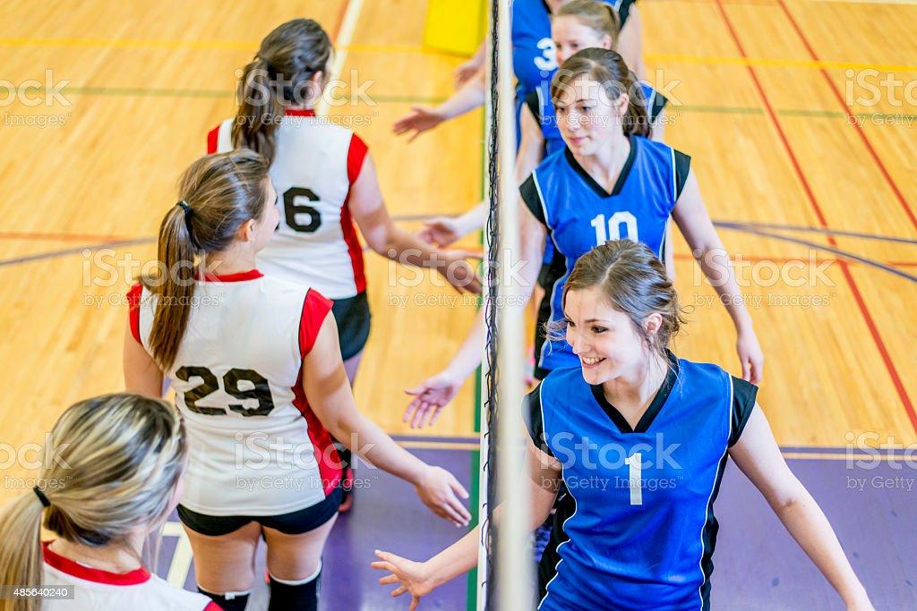 Final Volleyball Match stock photo
