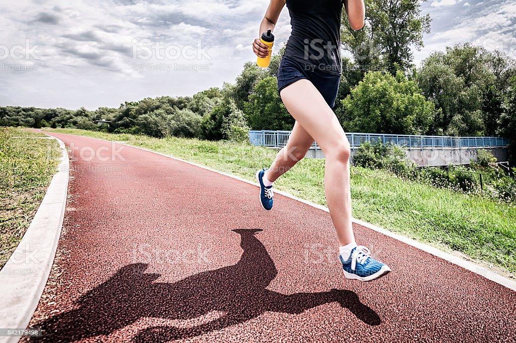 Finale lap stock photo