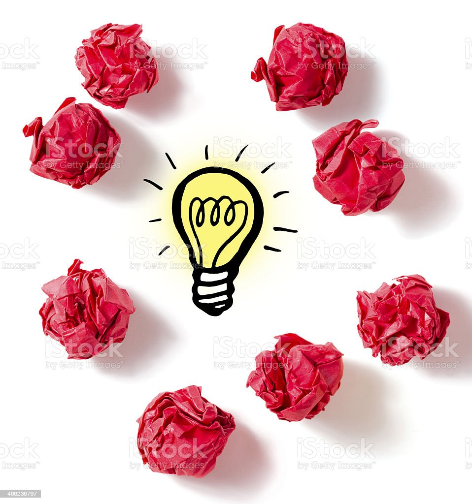 Finally a Bright Idea royalty-free stock photo