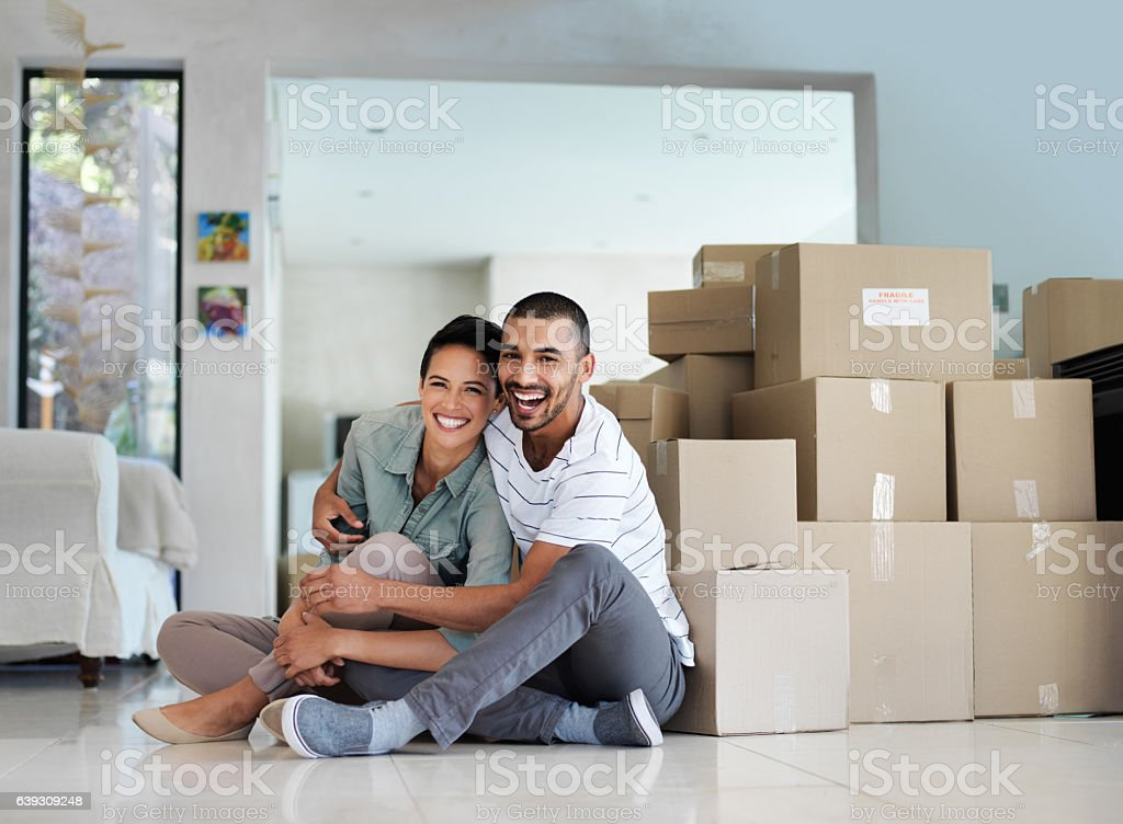 Finally a home of our own stock photo