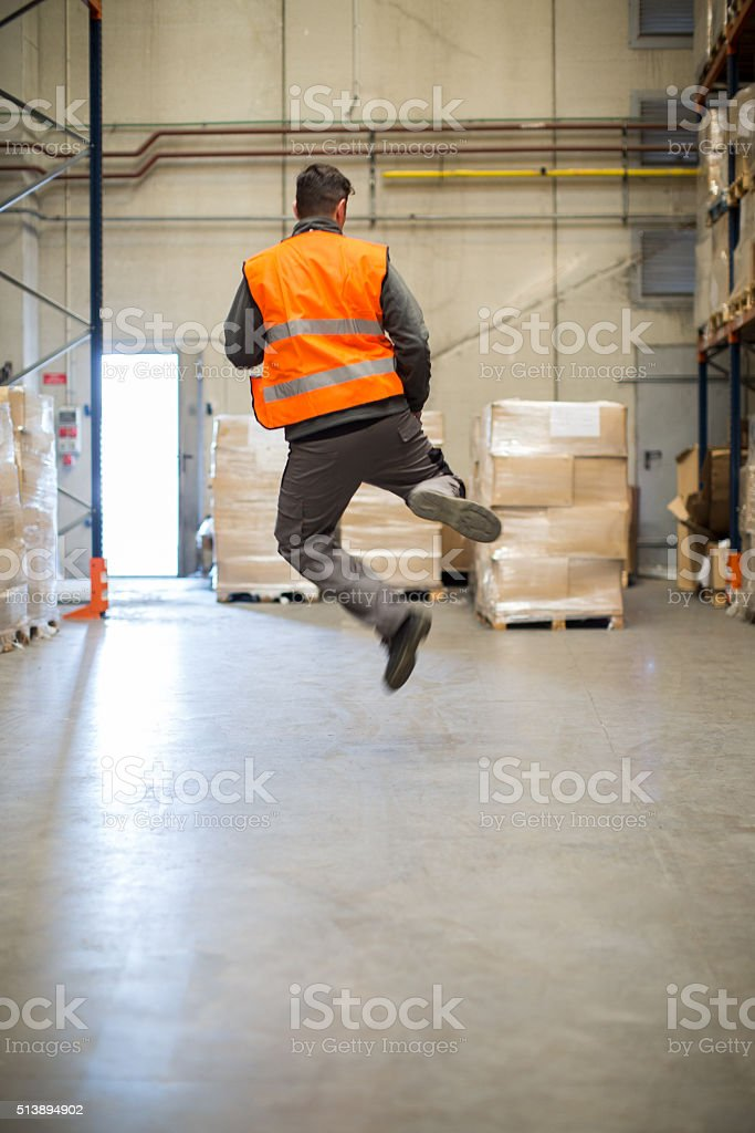 Finally friday, leaving work in joy. stock photo