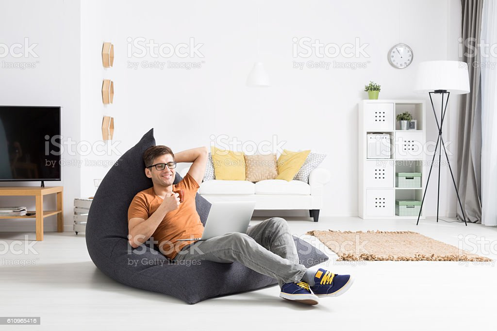 Finally i can relax... stock photo