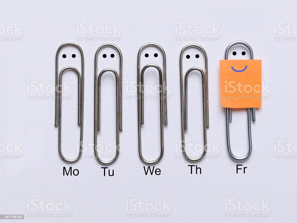 Finally it's Friday stock photo