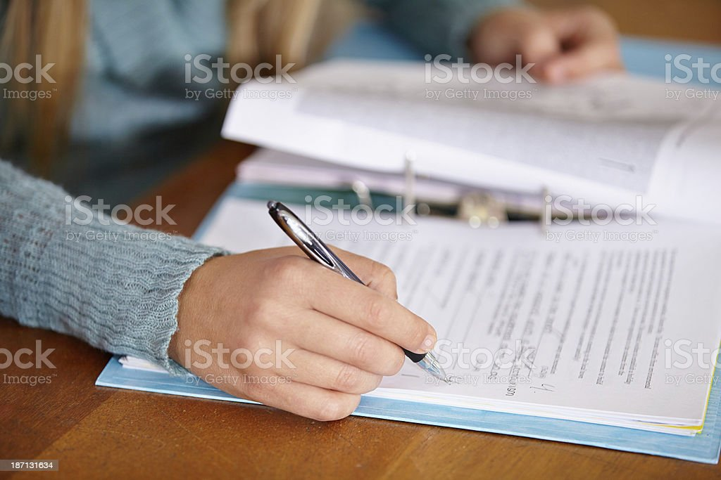 Finally - someone who studied! stock photo
