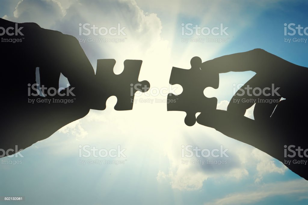 Finally, the match made in heaven stock photo