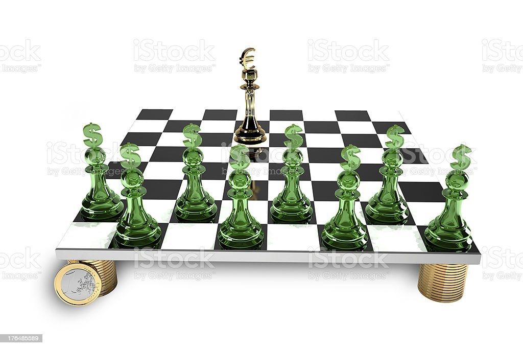 Finance a game of chess stock photo