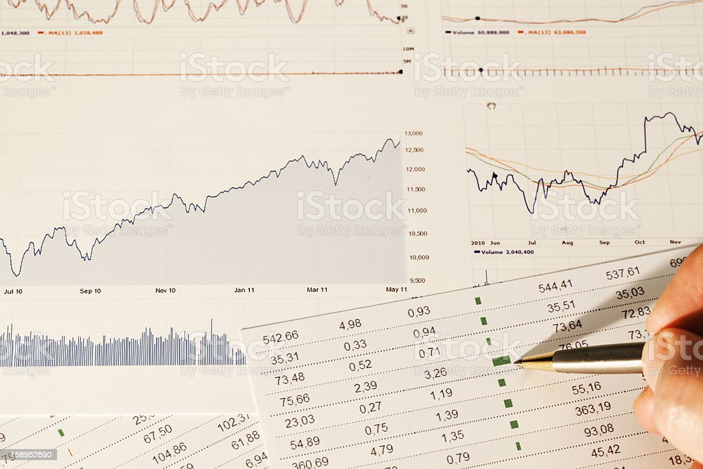 Finance analysis royalty-free stock photo