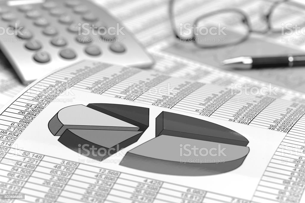finance and business calculation stock photo