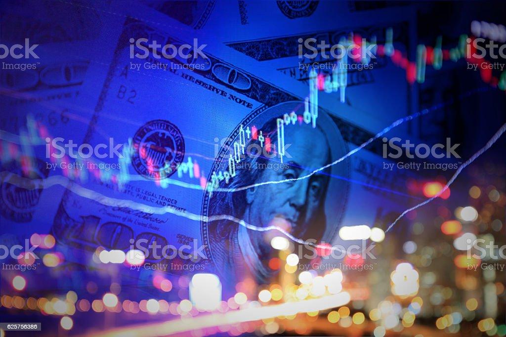 Finance background stock photo