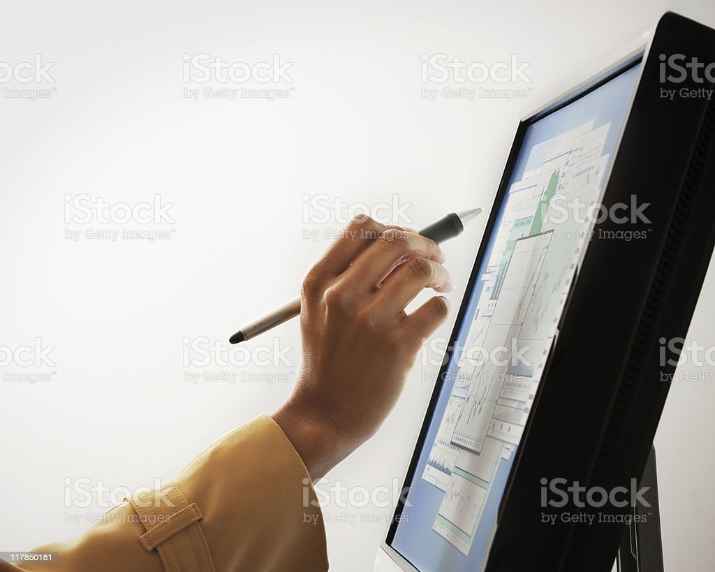 Finance Charts on Monitor royalty-free stock photo