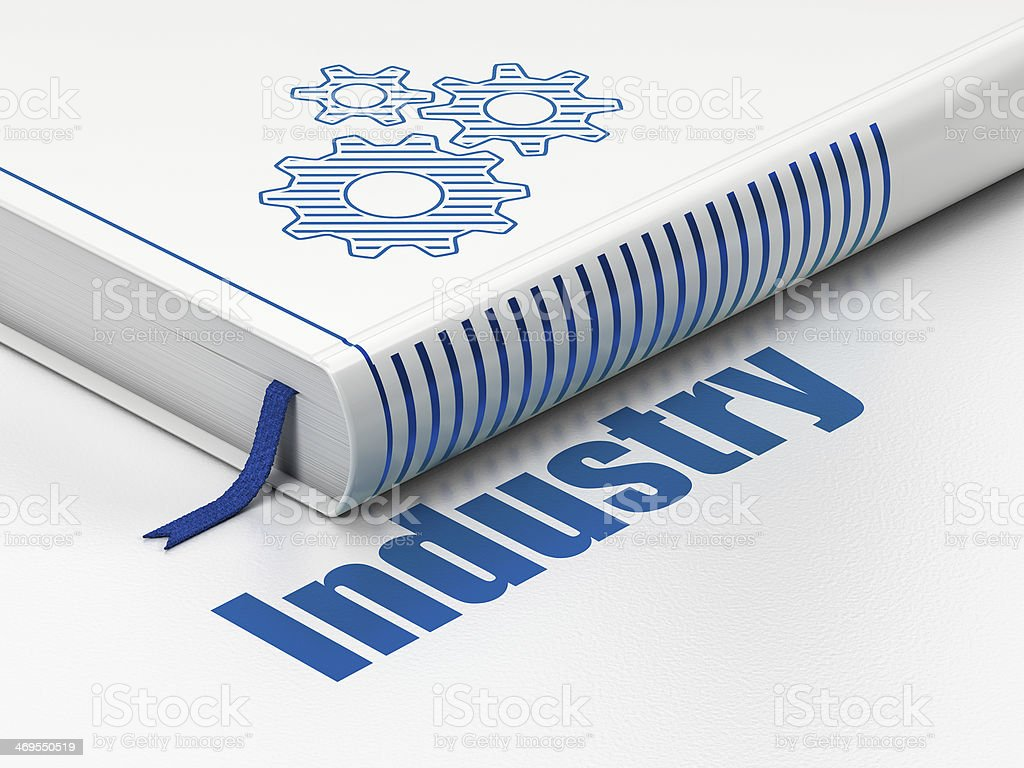Finance concept: book Gears, Industry on white background royalty-free stock photo