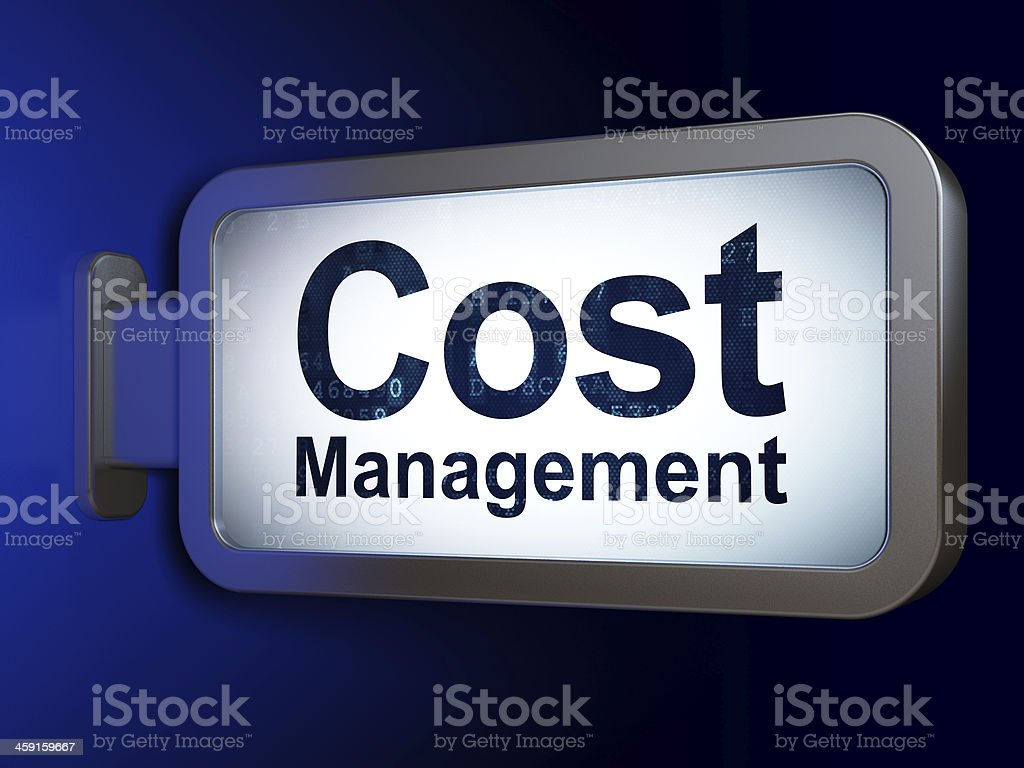 Finance concept: Cost Management on billboard background royalty-free stock photo