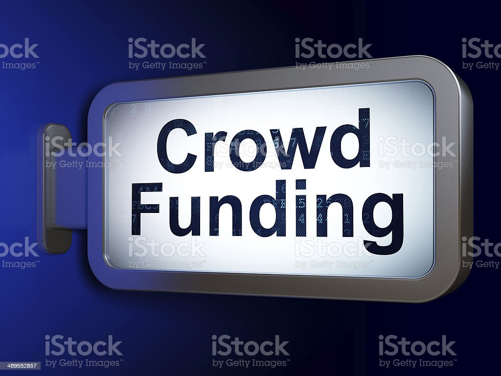 Finance concept: Crowd Funding on billboard background royalty-free stock photo