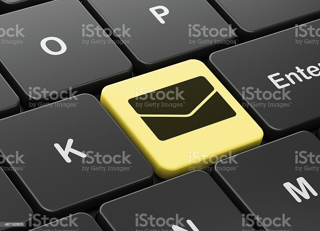 Finance concept: Email on computer keyboard background royalty-free stock photo