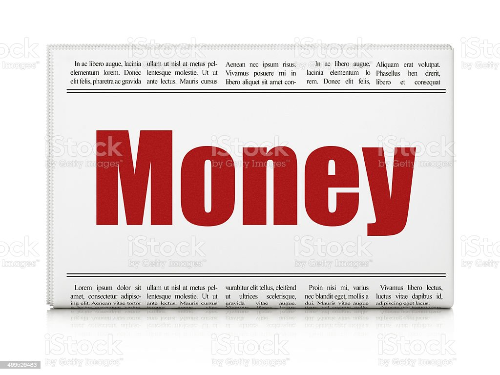 Finance concept: newspaper headline Money royalty-free stock photo