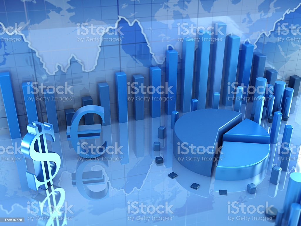 Finance concept with business diagrams royalty-free stock photo