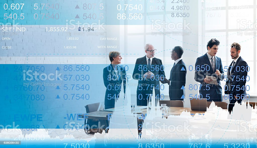 Finance Currency Banking Market Trade Concept stock photo