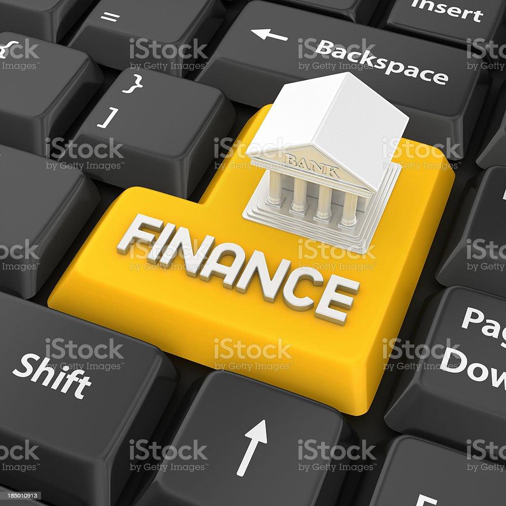 finance enter key royalty-free stock photo