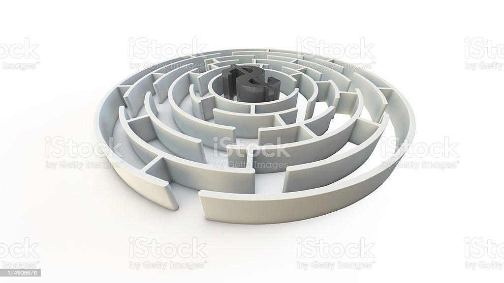 Finance maze royalty-free stock photo