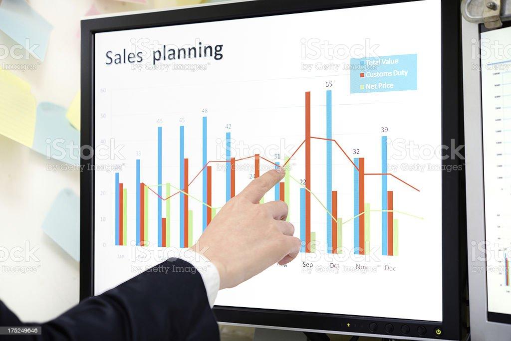 Finance planning royalty-free stock photo
